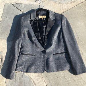 Silver & Black tuxedo blazer